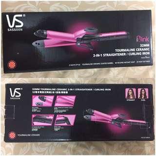 DISCOUNT 2-in-1 Vidal Sassoon Hair Straightener & Curling Iron