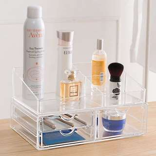 透明抽屜式化妝品收納盒 整理櫃