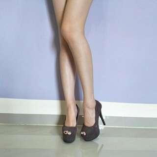 6 Inch Grey Platform High Heels
