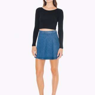 Dark Wash American Apparel Denim Skirt
