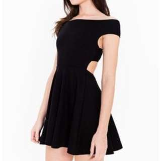 American Apparel Cross Back Dress (black)