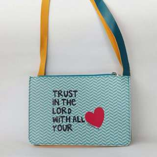 Bible Verse Print Pouch with detachable strap!