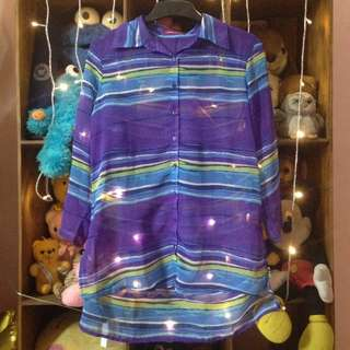 Graphis Purple Transparant Shirt
