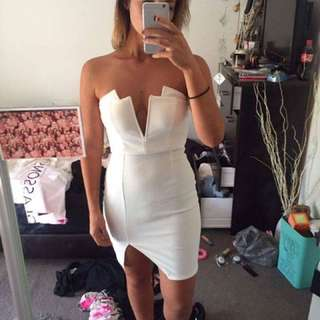 Strapless White Dress