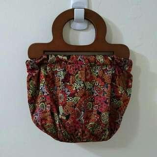 復古風刺繡小提包