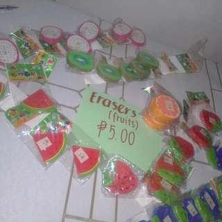 Eraser fruits