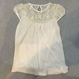Laced Top (cream)