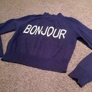 Mirrou Bonjour Crop Sweater