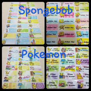 Waterproof Name Sticker Labels