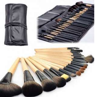 24 pcs brushes kit with pouch bag case