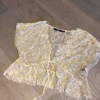 Cream Lace Bolero Sportsgirl top Sz.S