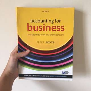 accounting for business book