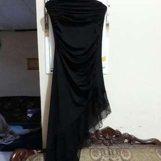 Dress Kemben Hitam Simetris