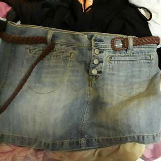 Rok Mini Jeans Merk Old Navy Size 10 Free Belt