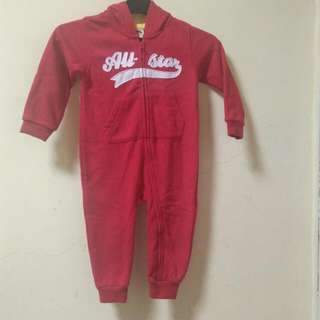 Long Jumpsuit With Hoodie For Boys