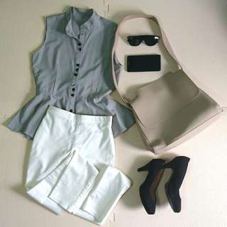 White Stretchable Slacks