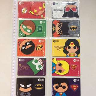 DC Characters EZ Link Cards