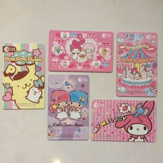 Sanrio EZ Link cards