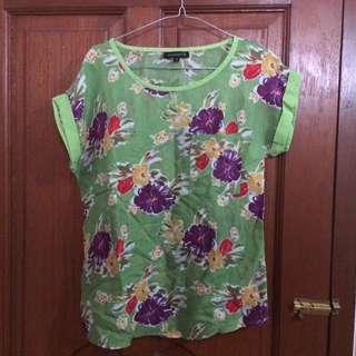 Flower Green Shirt