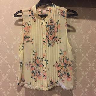Tank Top Floral Forever21