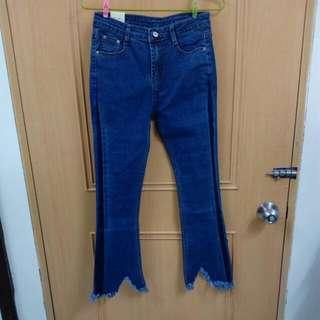 藍喇叭褲M