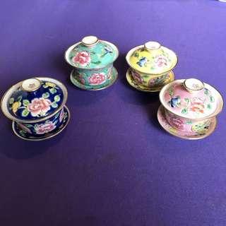 Peranakan Nyonya Tea cups (sold In pairs)