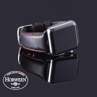 Horween Leather Watch Strap for Apple Watch Series 1 & 2 (Gentleman Black)
