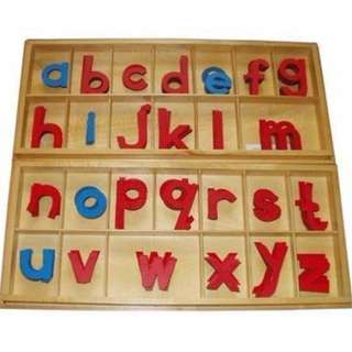 LARGE MOVEABLE / MOVABLE ALPHABET- LMA (WOODEN - 2 BOXES )