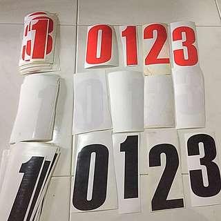 Big Number Sticker