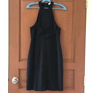Love Bonito Black Halter-neck Dress