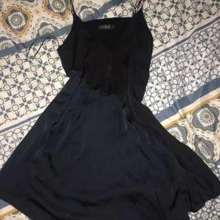 Black And Navy Silk