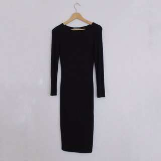 Topshop Bodycon Black Dress
