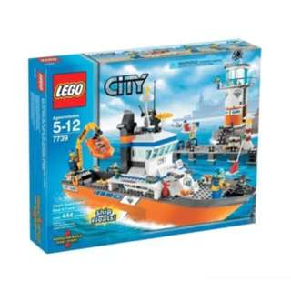 Lego 7739 Lego Coast Guard Patrol Boat And Tower