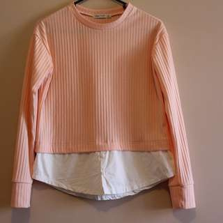 Pale Pink 2-layer top