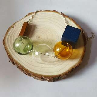 Handmade 玻璃球項鍊
