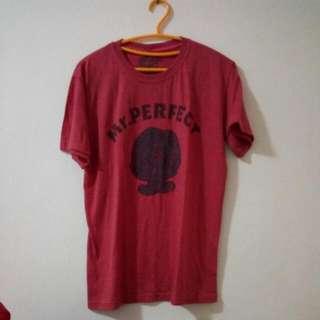 Red T-Shirt Mr. Perfect Little Miss Sunshine Kaos Merah