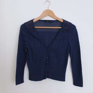 Sportsgirl Light Navy Cardigan
