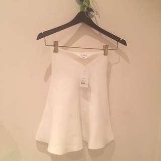 Lulu + Rose White Skirt