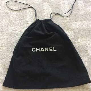 Authentic Black Chanel Dustbag