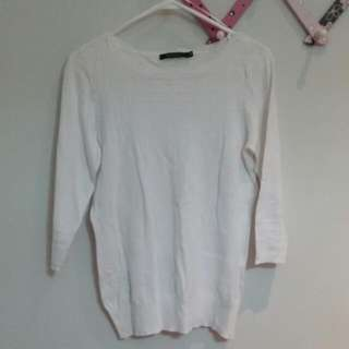 Portmans 3/4 Sleeved White Sweater