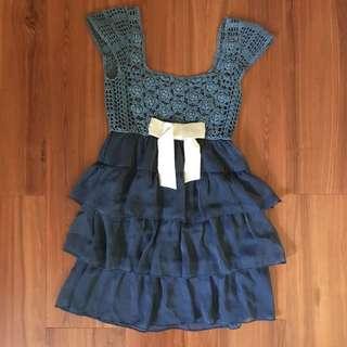 #idotrades Blue Lace Dress