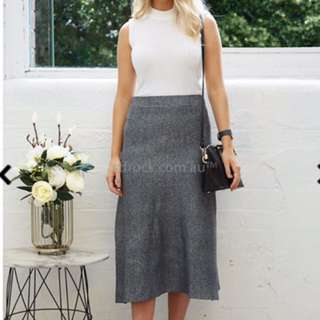 Forget Me Not Charcoal Skirt