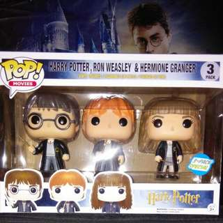 [PRE-ORDER] Harry Potter, Ron Weasley & Hermione Granger 3-pack Funko Pop