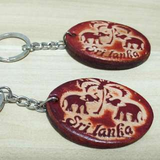 Srilankan Elephant Leather Key Chain