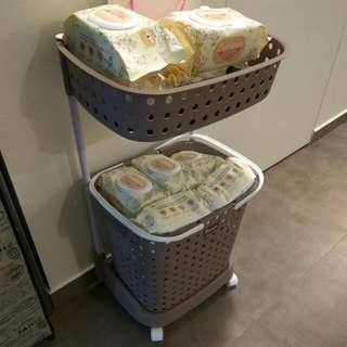 Portable Nursing Station For Wet Wipes And Diapers