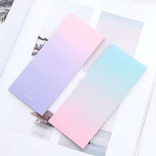 Beautiful Ombré Pastel Sticky Notepad / Memo pad