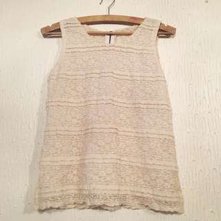UNBRANDED Lace Sleeveless Top