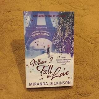 Novel chicklit import second/preloved/bekas when i fall in love