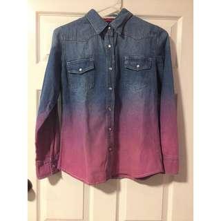 Boohoo Ombre Denim Shirt