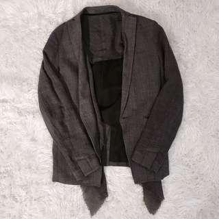 ⭕️TOM REBL_咖啡色質感罩衫外套